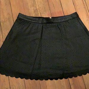Club Monaco faux leather mini skirt